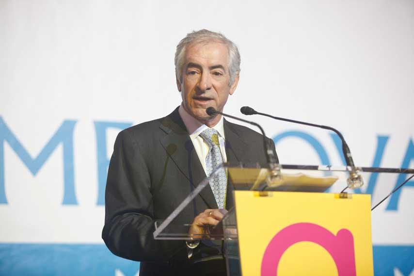 El presidente de Metrovacesa hablando en la inauguración de Arenas de Barcelona