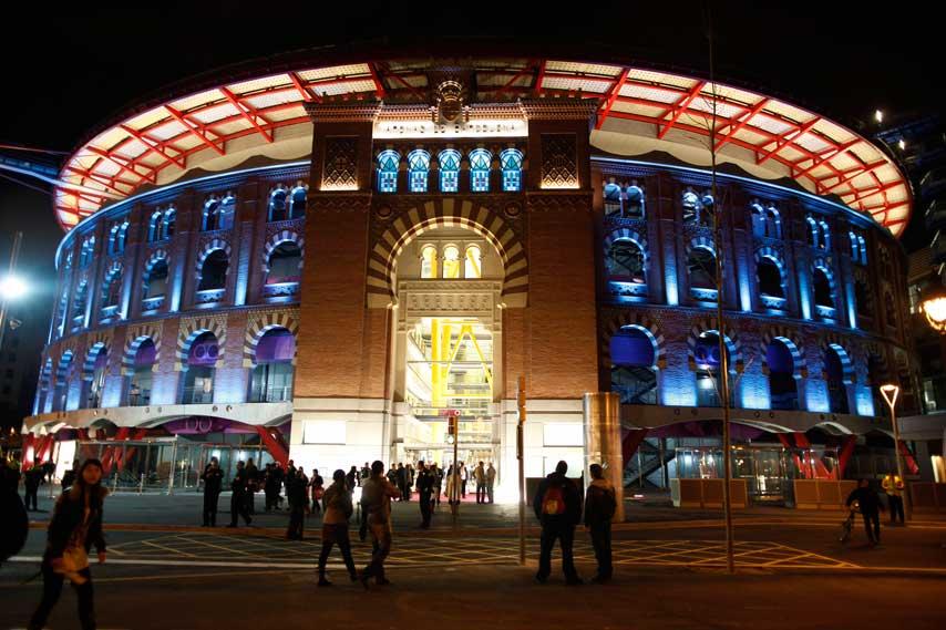 Fachada del centro comercial Arenas de Barcelona
