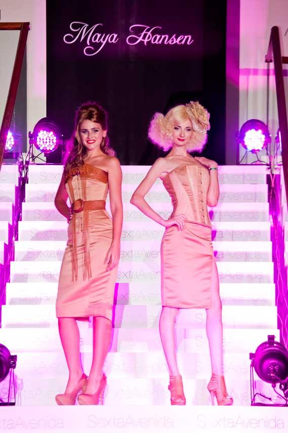 modelos posando en el desfile Causa y Seducción, en el centro comercial Sexta Avenida de Madrid