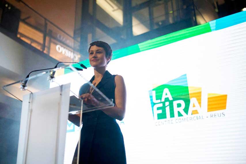 Aida Folch presentando la inauguración de La Fira