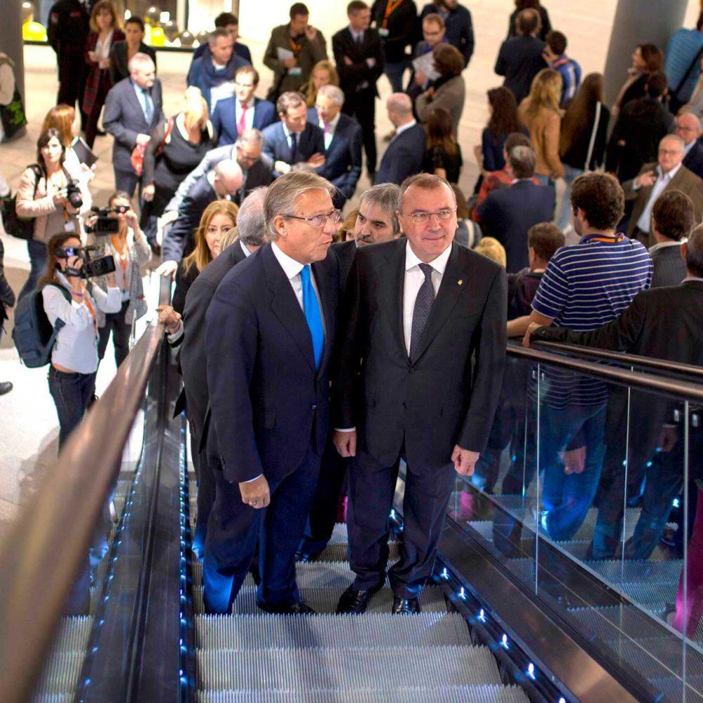 El presidente de Metrovacesa y el alcalde de Reus en la inauguración de La Fira