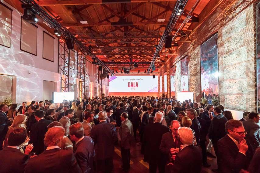 Vista de los invitados y la sala de la gala Carrefour Property y Carmila 2017