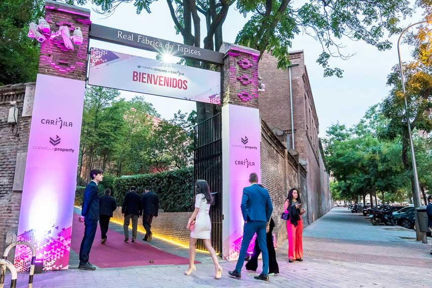 Entrada de invitados en la gala Carrefour Property y Carmila 2017