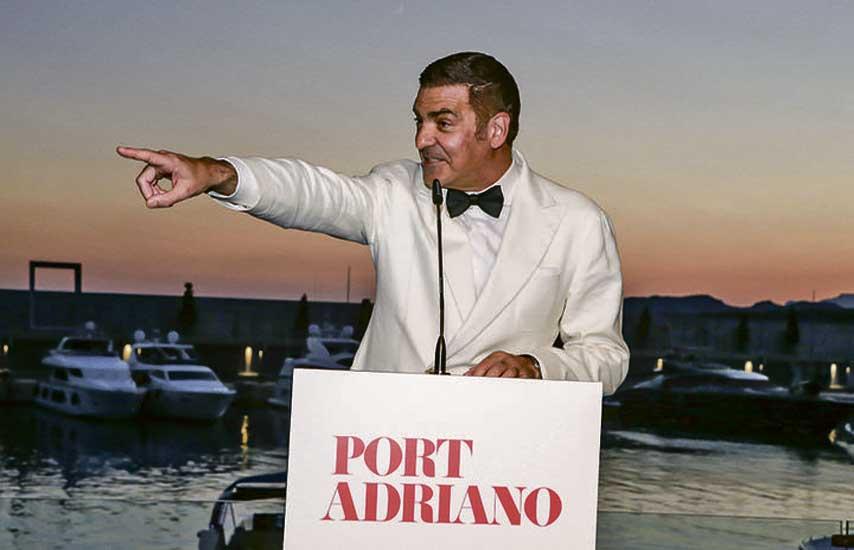 Esteban Mercer en la fiesta de La Nata y la Flor en Port Adriano
