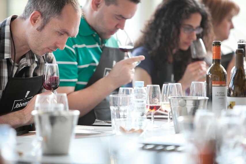 participantes en una cata de vinos