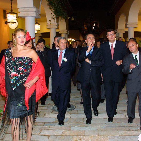 Visita de autoridades al centro comercial Plaza Mayor de Málaga, el día de su inauguración